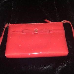 Red Kate spade cross body purse